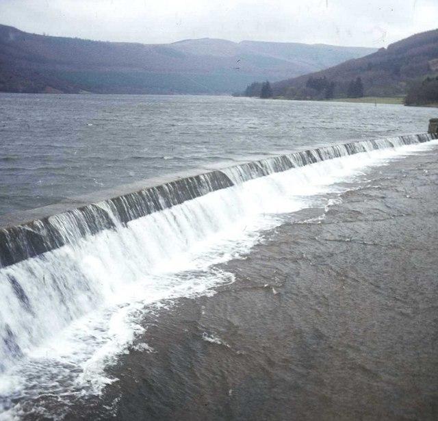 Talybont Reservoir overflow