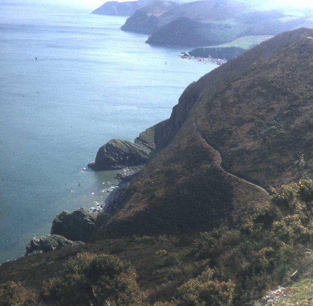 Coast path west of Woody Bay