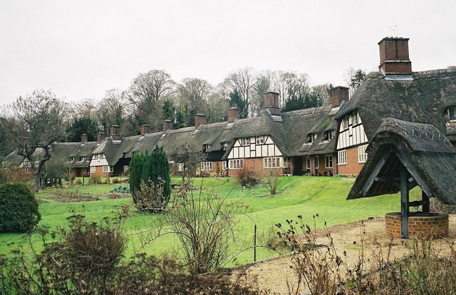 Freefolk: thatched almshouses