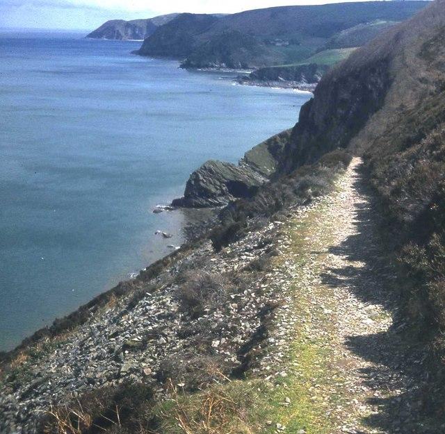 Coast path at Woody Bay