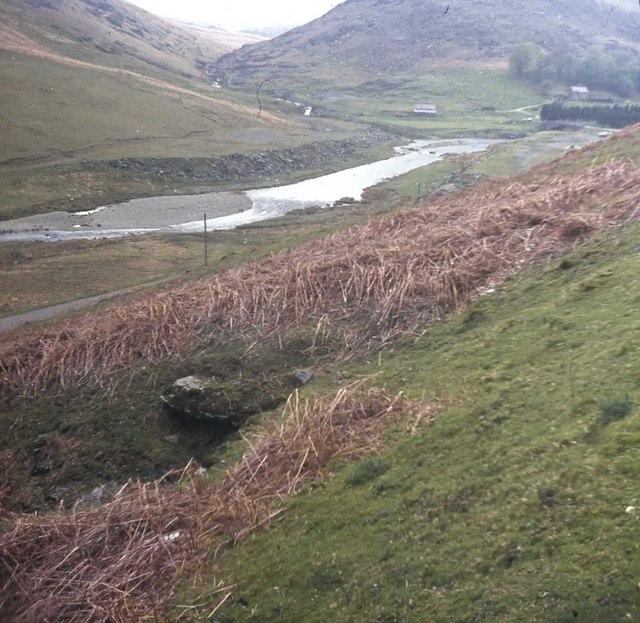 Afon Claerwen just below Claerwen Reservoir