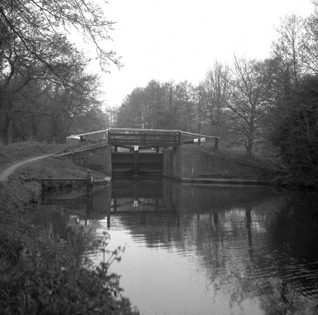 Newark Lock, Wey Navigation,Surrey