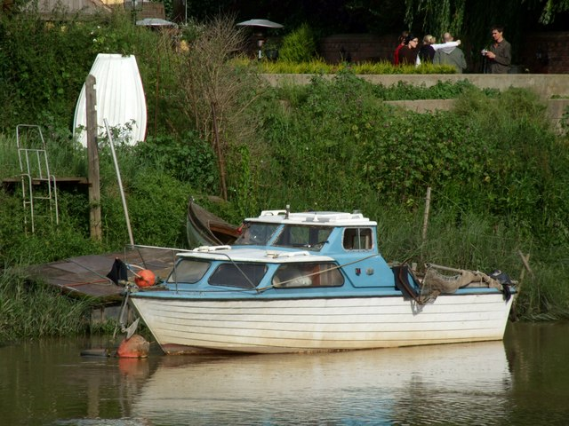 Boat on the River Witham, Boston