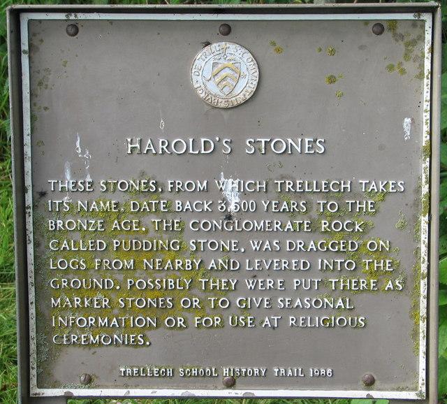 Harold's Stones explanatory notice