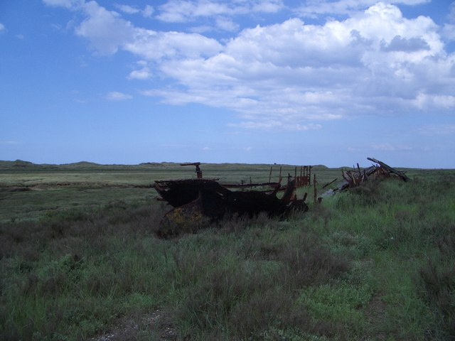 A Rusty Shipwreck on the Long Hills at Blakeney Point