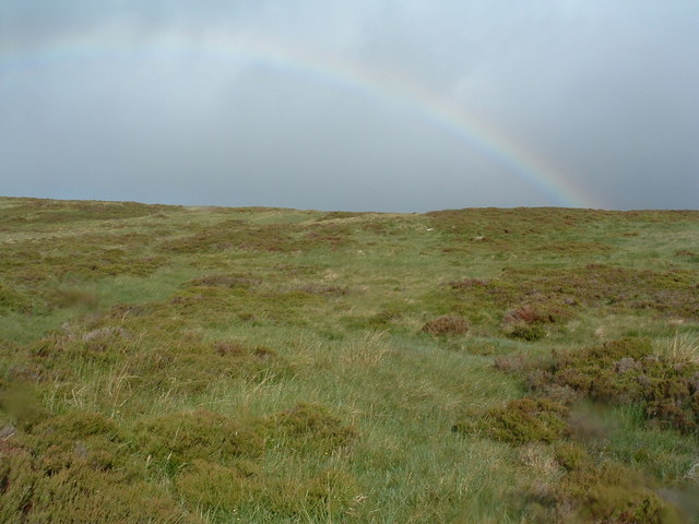 To the right - another hillside with rainbow