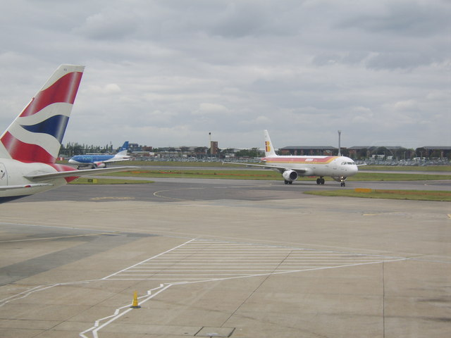 View from Terminal 1 at Heathrow Airport