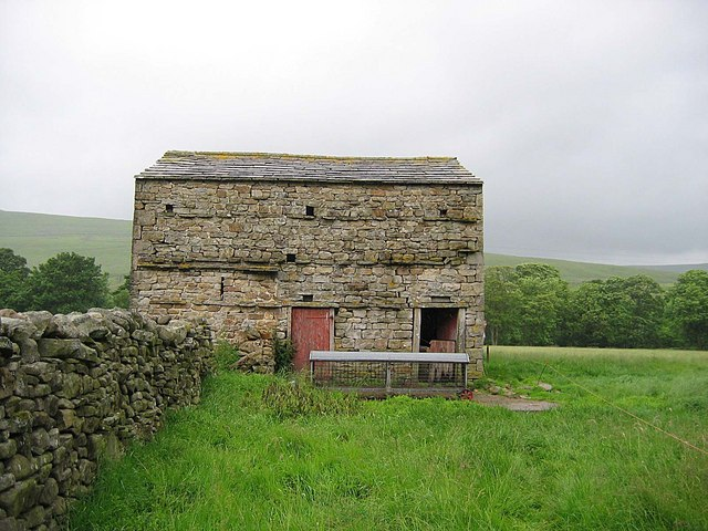 Stone barn at Birkrigg Farm