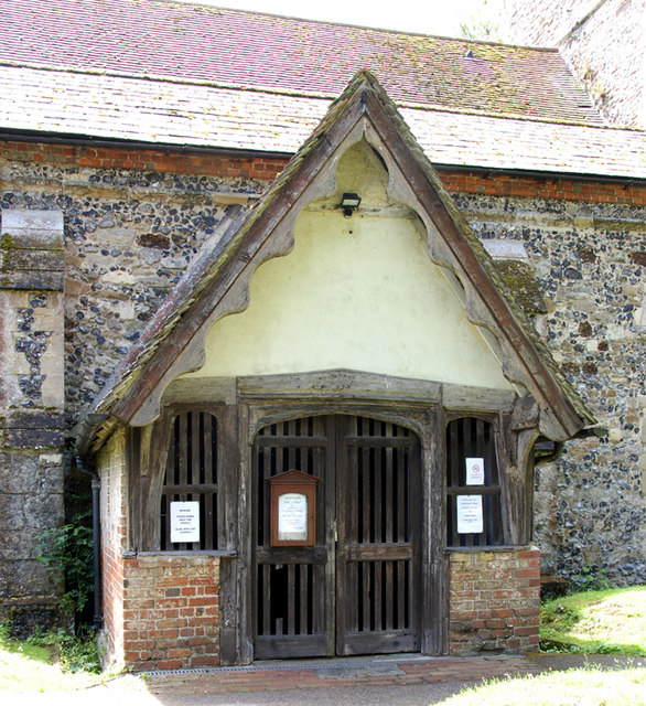 Church porch, Sturry, Kent