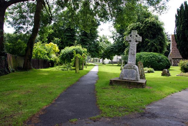 A footpath through the churchyard, Sturry, Kent