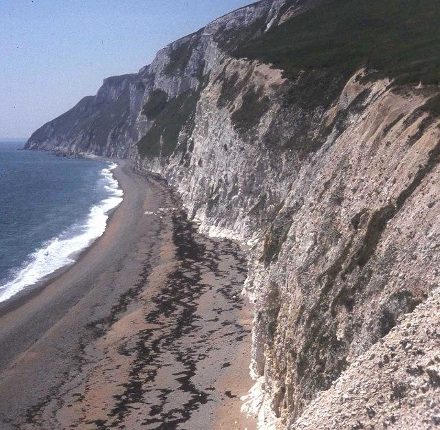 Cliffs west of Bat's Head