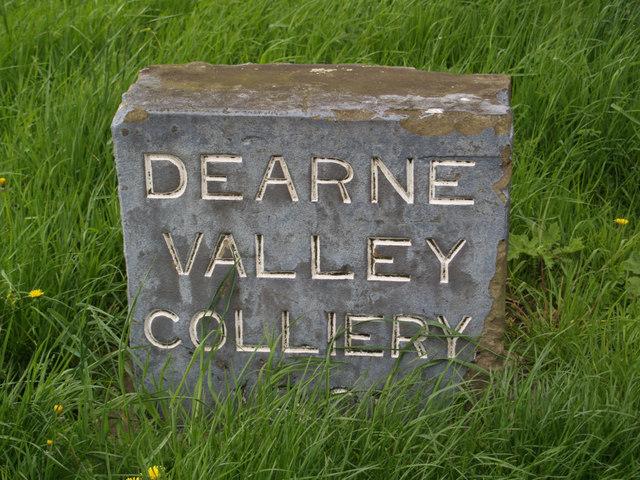 Dearne Valley Colliery marker stone
