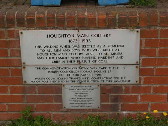Houghton Main Colliery plaque