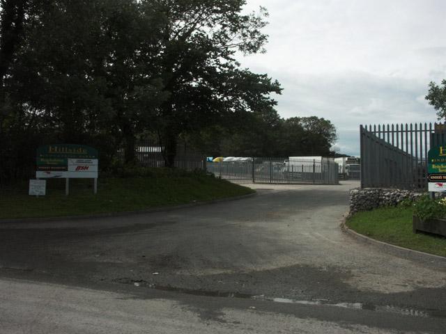 Entrance to Hillside Industrial Park