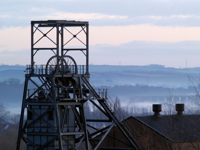 Former Barnsley Main Colliery head frame