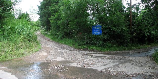 Cleddon road junction