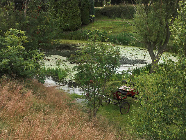 Pond and Carriage at Brookhouses