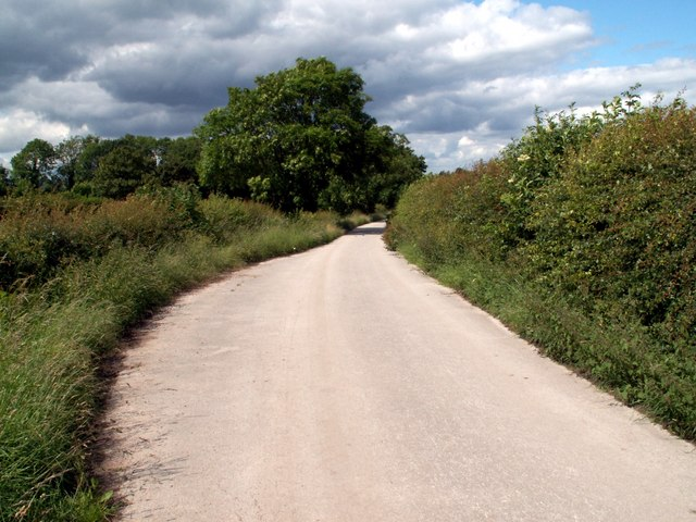 Passing point for cars on the bridleway