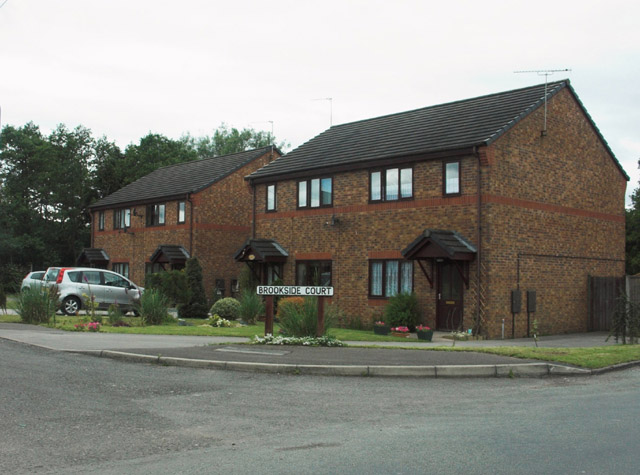 Modern housing off Dilhorne Road