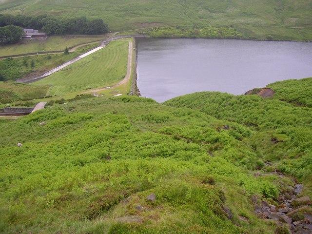 Wessenden Reservoir from Birk Moss, Marsden