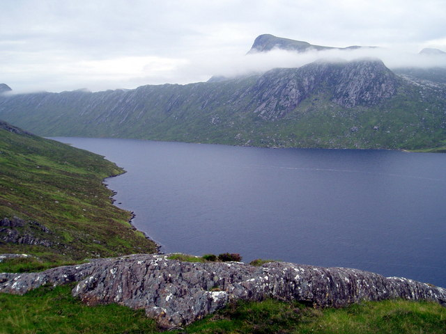 Remote area above Lochan Fada north of Slioch