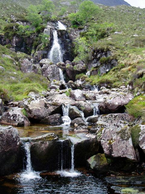 Waterfall above Gleann na Muice
