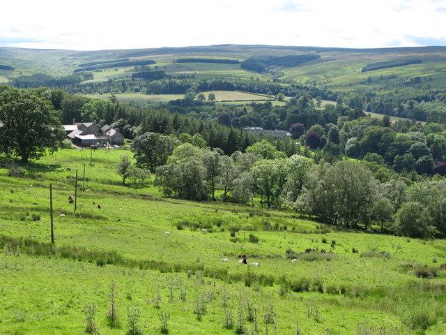 Pastures above Monk Farm