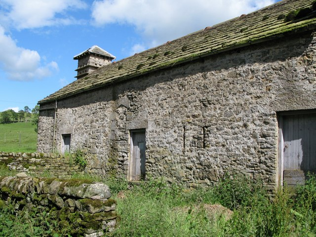 Old barn with dovecote, Monk Farm