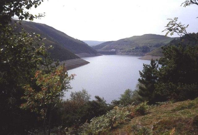 Southern end of Llyn Clywedog