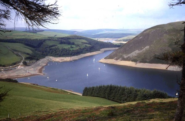 Northern end of Llyn Clywedog Reservoir