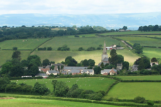Trellech Church from Beacon Hill