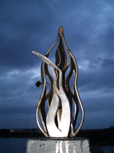 Part of memorial sculpture to Dearne Valley Wath lake
