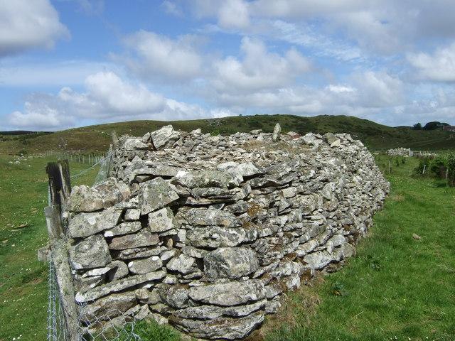 A stone cairn by Loch Waternan