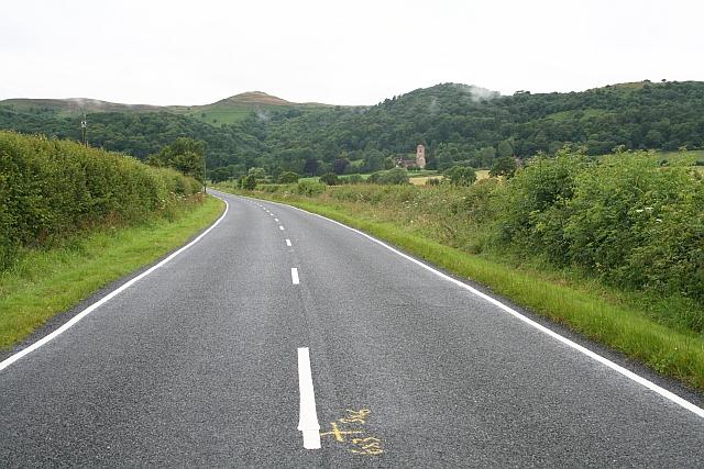 Road Markings on A4104