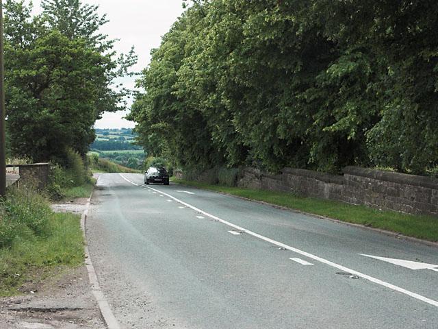Cheadle Road outside Forsbrook