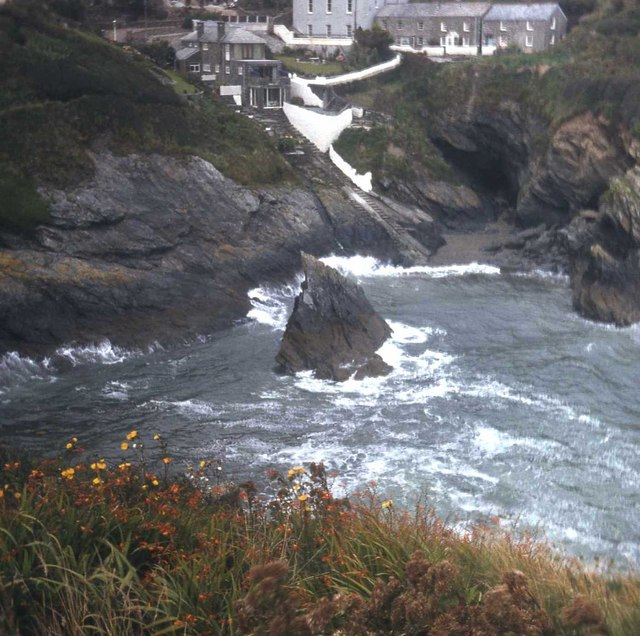 Portloe houses from Jacka Point