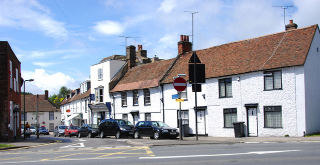 Junction of  the High Street with the A28, Sturry, Kent