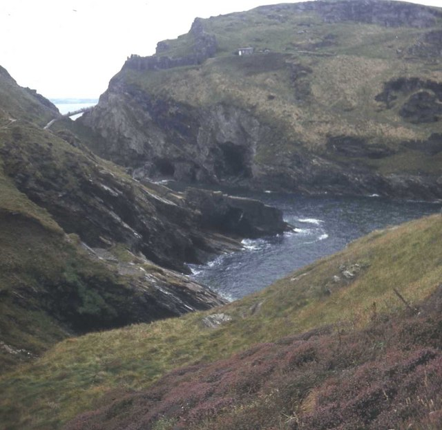 Merlin's Cave viewed from Barras Nose