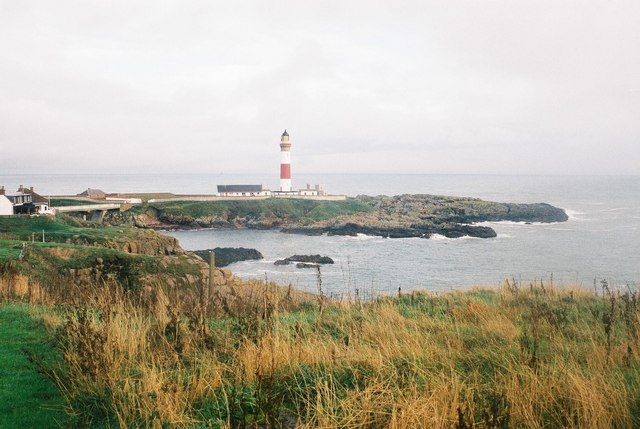 Lighthouse on island � Buchan Ness