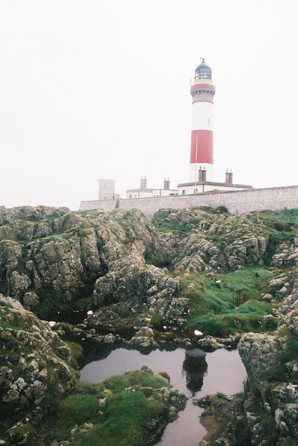Lighthouse and partial reflection