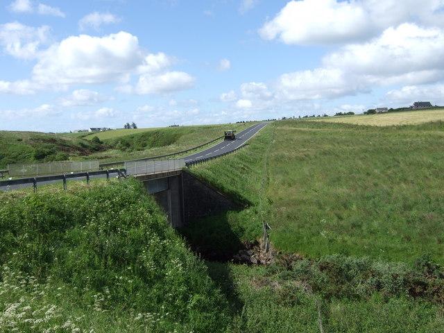 A99 crossing the new Reisgill Bridge