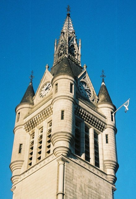 Aberdeen Town House: clock tower detail