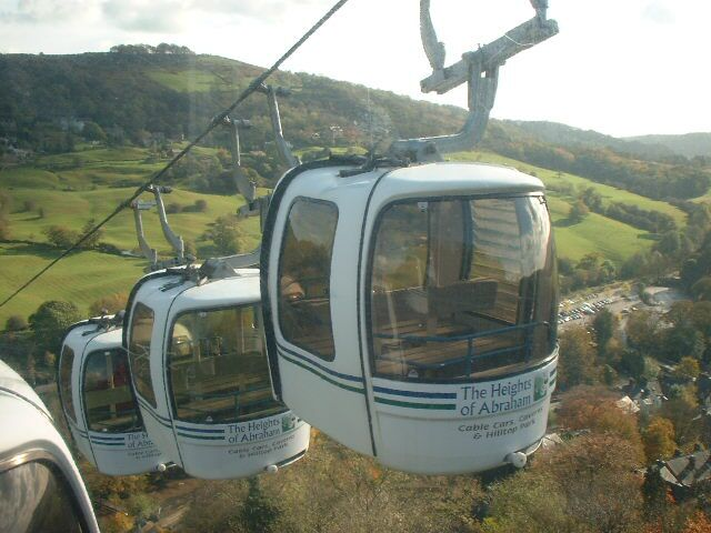 Cable Cars at the Heights of Abraham