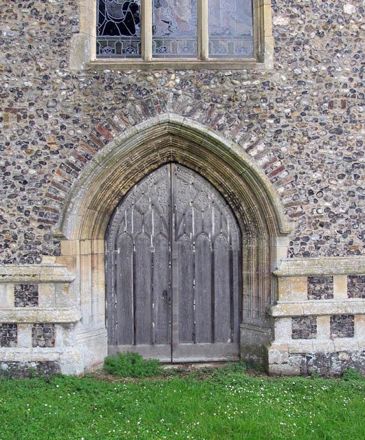 St Michael & All Angels, Barton Turf, Norfolk - West doorway