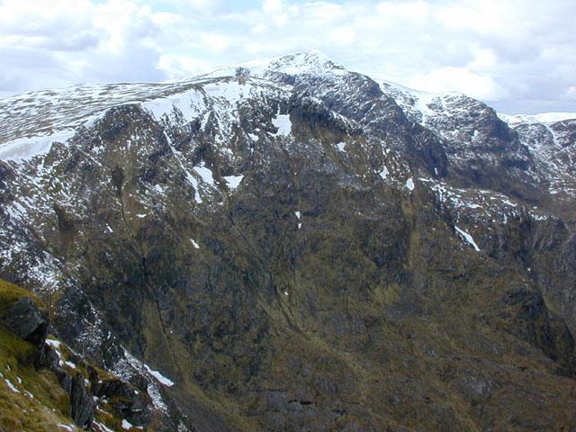 The cliffs of Creag a' Chaorainn