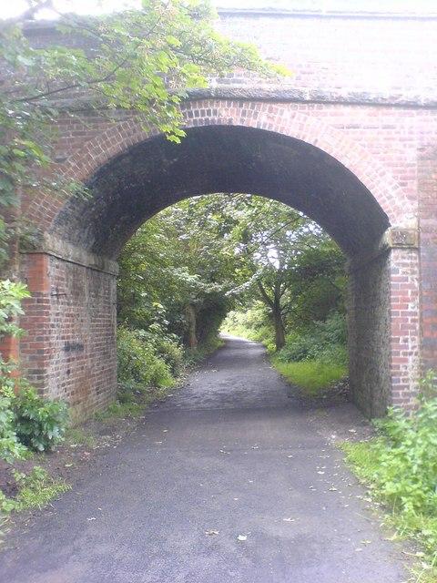 Bridge over the old Glasson Dock Railway