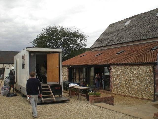 Film shoot, Sussex Barn