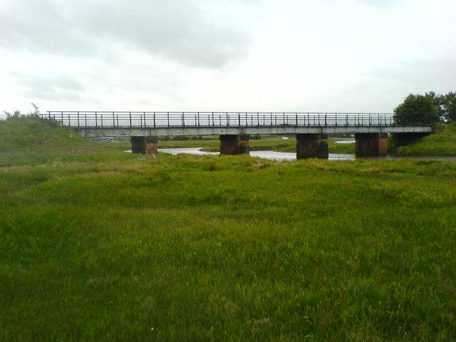 Old Railway bridge over the River Conder