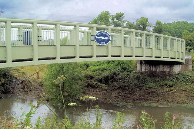 Trans Pennine Trail footbridge over River Dearne Adwick