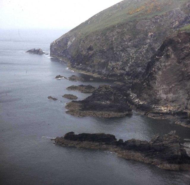 Cliffs at Dinas Head